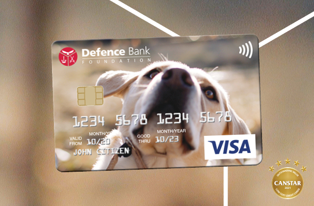 Mobile phone displaying Defence Bank mobile banking app