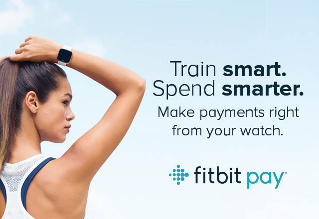 Fitbit Pay banner.