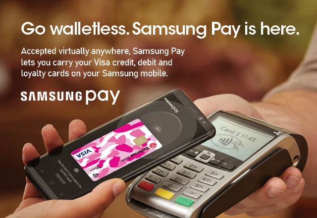 Samsung Pay banner.