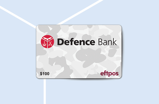 Earn a $100 eftpos card when you purchase a new comprehensive car insurance policy with Defence Bank.k.
